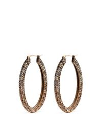 J.Crew | Multicolor Oval Pavé Hoop Earrings | Lyst