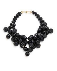 Kenneth Jay Lane | Multi-Row 22K Gold And Black Glitz Bead Necklace | Lyst