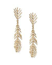 American Rag | Metallic Goldtone Leaf Stick Drop Earrings | Lyst