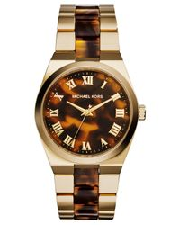 Michael Kors - Metallic Women'S Channing Tortoise And Gold-Tone Stainless Steel Bracelet Watch 38Mm Mk6151 - Lyst