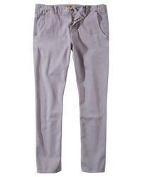 BOSS Orange - Gray Textured Slim-fit Trousers In Cotton Blend: 'sandrew-d' for Men - Lyst