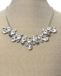 Givenchy - Metallic Silver-Tone Stone Statement Necklace - Lyst