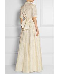 Lela Rose - White Checked Taffeta Wrap Gown - Lyst