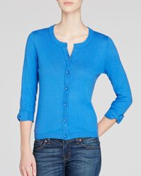 kate spade new york | Blue Somerset Bow Cuff Cardigan | Lyst