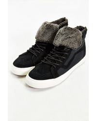 Vans - Black Sky-hi Plush Zip Sneaker for Men - Lyst