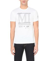 Armani Jeans | White City Cotton-jersey T-shirt for Men | Lyst
