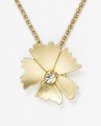 Marc By Marc Jacobs - Metallic Tiny Flower Pendant Necklace 24 - Lyst