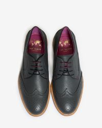 Ted Baker | Gray Deluxe Leather Brogue Shoes for Men | Lyst