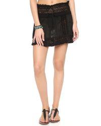Sofia By Vix - Black Crochet Skirt - Lyst