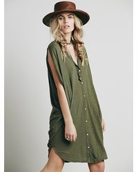 Free People | Green Fp Beach Womens Weekender Dress | Lyst