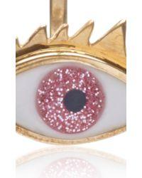 Delfina Delettrez   Metallic Glittered Eye Pierced Earring   Lyst