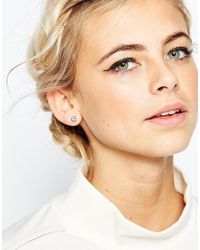 Ted Baker | Metallic Sinaa Crystal Stud Earrings | Lyst