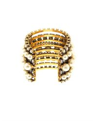 Erickson Beamon - Metallic Stratosphere Faux-Pearl & Crystal Cuff - Lyst