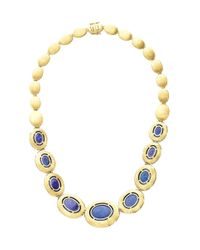 Marco Bicego - Blue Tanzanite And Diamond One-Of-A-Kind Collar Necklace - Lyst