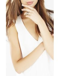 BCBGMAXAZRIA | Metallic Layered Charm Ring | Lyst