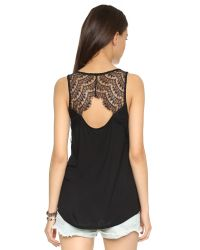 BB Dakota | Black Jack By Rai Lace Tank - Light Heather Grey | Lyst