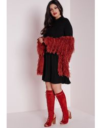 Missguided | Plus Size Jersey Swing Dress Black | Lyst