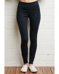 Forever 21 | Blue Cotton-blend Leggings | Lyst
