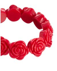 Cath Kidston | Red Rose Stretch Bracelet | Lyst