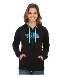 The North Face | Blue Half Dome Full Zip Hoodie | Lyst