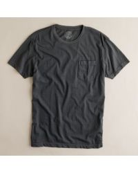 J.Crew | Gray Slim Broken-In Pocket Tee for Men | Lyst