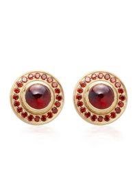 Astley Clarke | Red Garnet Pave Earrings | Lyst