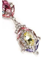 Kenneth Jay Lane | Multicolor Crystal Flower Drop Earrings | Lyst