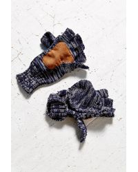 Urban Outfitters - Blue Space-dye Patch Convertible Glove - Lyst
