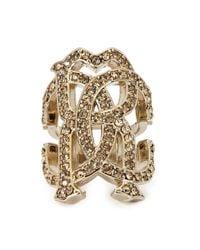 Roberto Cavalli | Metallic Rc Luxe Swarovski Crystal Ring | Lyst