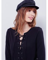 Free People | Black Womens All Laced Up Shift Dress | Lyst