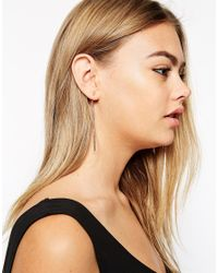 ASOS | Metallic Solid Smooth Bar Earrings | Lyst
