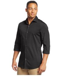 Michael Kors | Gray Slim-fit Long-sleeve Button-down Shirt for Men | Lyst