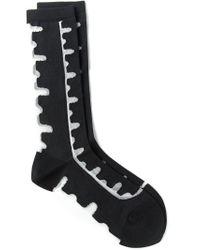 Henrik Vibskov - Black Sheer Detail Socks - Lyst