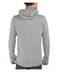 Bench - Gray Achiever Plain Zip-thru Hoodie for Men - Lyst