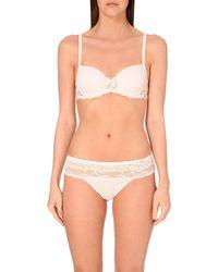 Chantelle | Idole Memory Foam Lace Bra, Women's, Size: 32c, Soft Pink | Lyst