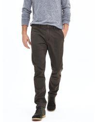 Banana Republic | Brown Heritage Skinny Zip Utility Pant for Men | Lyst