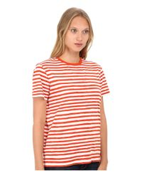 Marc By Marc Jacobs | White Sketch Stripe Tee | Lyst
