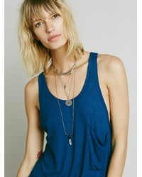 Free People - Blue We The Free Womens We The Free Hot Pocket Tank - Lyst