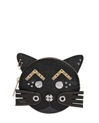 Marc By Marc Jacobs | Black Gato Faux Leather Coin Purse | Lyst