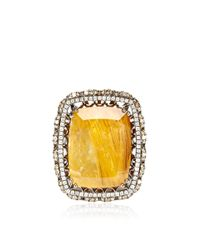 Bochic | Orange Moss Agate and Diamond Ring | Lyst