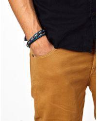 Chamula - Blue Braided Bracelet for Men - Lyst