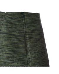 Paul Smith - Women's Green Textured Cotton-blend Skirt - Lyst