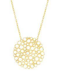 Gurhan - Metallic 24k Gold Lace Pendant Necklace - Lyst