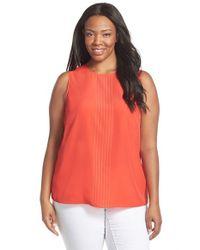 MICHAEL Michael Kors Orange Studded Sleeveless Top