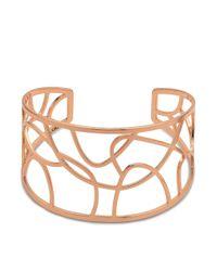Pilgrim - Metallic Rose Gold Plated 'zora' Bracelet - Lyst