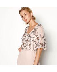Début - Pale Pink Beaded 'lola' Maxi Dress - Lyst