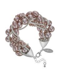 J By Jasper Conran - Pink Designer Pearl And Chain Twist Necklace - Lyst