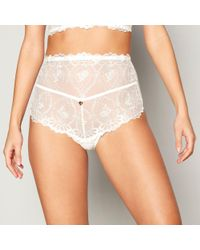 Lipsy - White Ivory Lace 'ophelia' Full Brief Knickers - Lyst