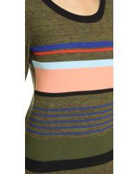 Sonia by Sonia Rykiel - Green Multi Striped Sweater Dress - Olive/moss Melange - Lyst