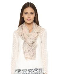 Tory Burch | Pink Souk Printed Scarf - Light Oak | Lyst